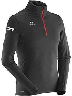 Salomon 2015 Men's Agile 1/2 Zip Midlayer Running Top