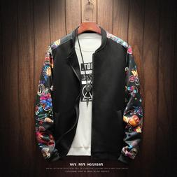 2019 Floral Fashion Fall Winter Pilot <font><b>Jacket</b></f