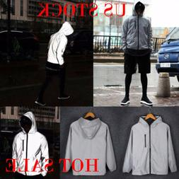 3M Mens Waterproof Reflective Running Jacket Night Overcoat