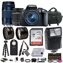 Canon EOS Rebel T5i w/EF-S 18-55mm & 75-300mm Lenses with 32
