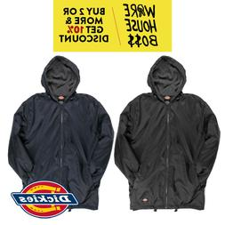 DICKIES 33237 MENS HOODED WINDBREAKER JACKET FLEECE LINED WA