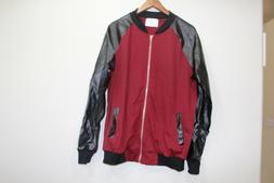 H2H MENS BLACK ZIP UP BOMBER JACKET SIZE LARGE