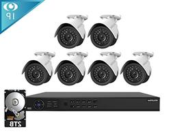 Laview 1080p home security camera system, 8 channel NVR reco