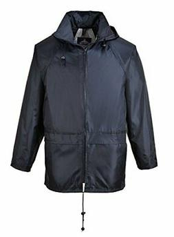 Portwest Mens Classic Rain Jacket 4XL Chest 56 - 58in - Navy
