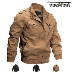 TACVASEN Men's MA-1 Pilot Bomber Jacket Coats Air Force Flig