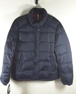 Tommy Hilfiger Men's Navy Puffer Jacket Wind Resistant Down