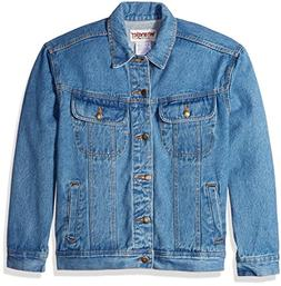 Wrangler Men's Classic Denim Jacket-Motorcycle Edition, Vint