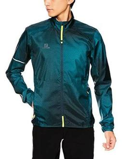 Salomon Men's Agile Wind JACKET , Night Sky/Refle, X-Large