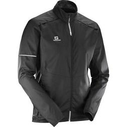Salomon Agile Wind Mens Windproof Jacket S18 - Black