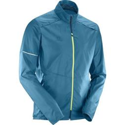 Salomon Agile Wind Mens Windproof Jacket S18 - Moroccan Blue