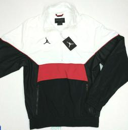 Nike Air Jordan Retro 3 Jacket Mens Half Zip White Red Black
