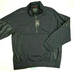 Nike Air Jordan Retro 3 Jacket Mens Half Zip Black Windbreak
