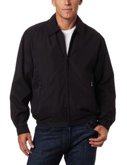 London Fog Men's Auburn Zip-Front Golf Jacket , Black, 3X