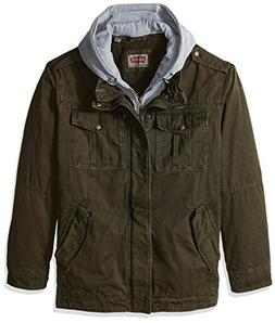 Levi's Men's Big & Tall Washed Cotton Four-Pocket Hooded Tru