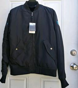 BRAND NEW BLACK FOSSA APPAREL WINGMAN WINGOVER BOMBER JACKET