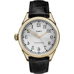 Timex Men's Briarwood Terrace Black Leather Strap Casual Wat