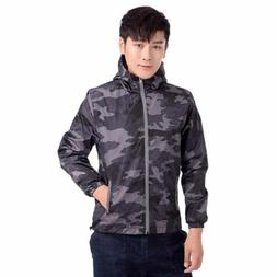 Camouflage Coats Mens Hooded Jackets Thin Tops Short Outerwe
