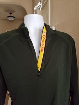 Levelwear CANADA DRY Mens  Green Windbreaker half zip Jacket