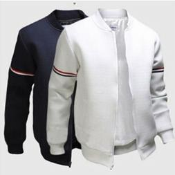 Chic Men Baseball Outwear Coat Bike Motorcycle Padded Bomber