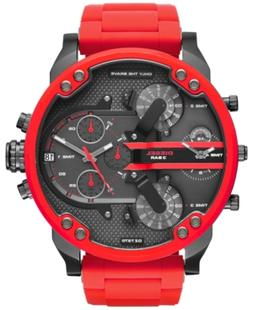 Diesel Men's Chronograph Mr. Daddy 2.0 Red Silicone Strap Wa
