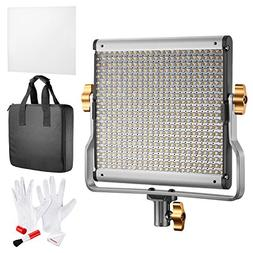 Neewer Dimmable Bi-color 480 LED Video Light with U Bracket