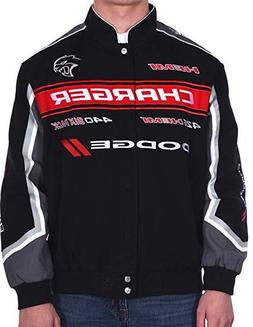 Dodge Charger Jacket Mens Embroidered Collage Logos Twill Ja