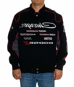 Dodge Charger Jacket Racing Collage Embroidered Logos Mens T