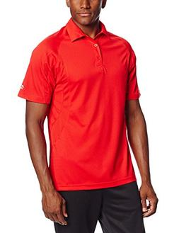 Champion Double Dry Men's Solid-Color Polo Shirt Scarlet XL