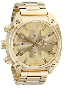 Diesel Men's DZ4299 Overflow Gold-Tone Stainless Steel Watch