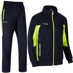 TBMPOY Men's Essential Running Top & Bottoms Set Long Sleeve