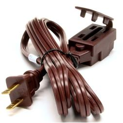 Extension Cord Indoor Brown 3-Outlets Strong Durable Light D