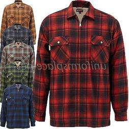 Wolverine Flannel Jacket Mens Plaid MARSHALL SHIRT Sherpa Fl