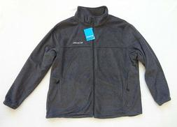 Columbia Fleece Jacket Mens Size 3X Gray Full Zip $65 Mount