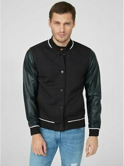 G By Guess Men's Cardona Varsity Jacket