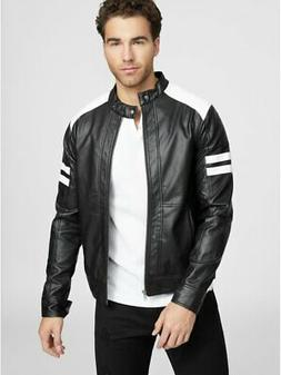 G By Guess Men's Lunar Faux-Leather Jacket
