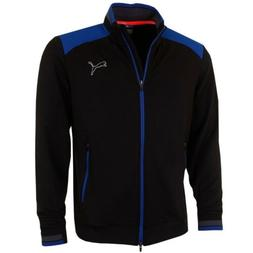 PUMA GOLF PWRwarm Black Blue F/Z Thermal Insulated Track Jac