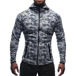 gym workout hoodie jacket fitted