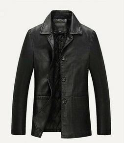 HOT Winter Mens Warm Real Leather Jacket Men Thick Jackets C