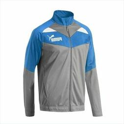 PUMA ICONIC TRICOT JACKET MENS TRACK ZIP ATHLETIC TOP BLUE G