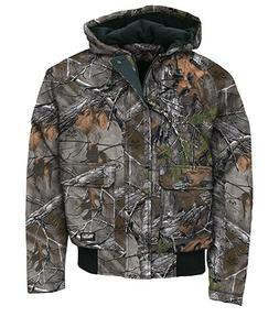 Walls Men's Insulated Hooded Jacket,Mossy Oak,US 2XL