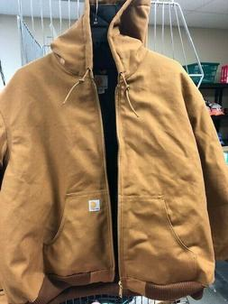 CARHARTT J140-BRN Quilted Lined Hoody Jacket 3XL, NEW, FAST