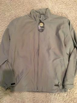 jacket full zip men s large gray