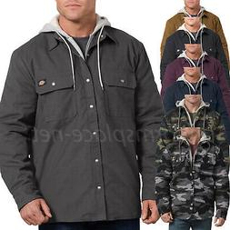 Dickies Jacket Mens Relaxed Fit Icon Hooded Duck Quilted Shi