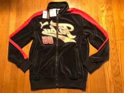 PUMA X FUBU JACKET MENS SIZE XL PUMA X FUBU BLACK/RED SUEDE