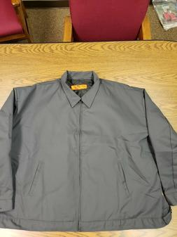 Red Kap JT22 Men's Slash Pocket Jacket -Size 5XL Charcoal