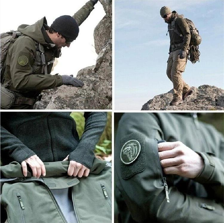 2018 Skin Military Windproof Tactical Softshell <font><b>Men</b></font> Windbreaker