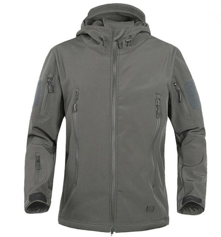 2018 Winter Shark Skin Windproof Softshell <font><b>Jacket</b></font> Army <font><b>shell</b></font> Windbreaker