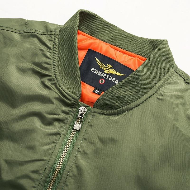 Thick Army Green Military aviator Air <font><b>bomber</b></font>