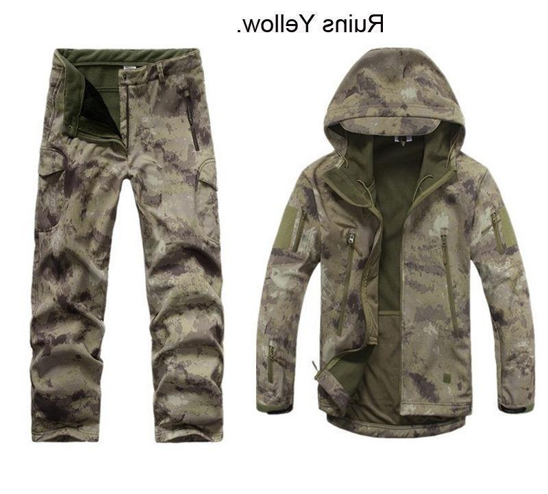 2PCS Outdoor Hunting Mens Jacket +pants Waterproof Coat Thicken