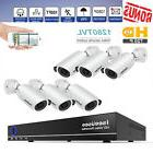 6 Security Camera System 1080P Wire DVR Surveillance Kit HD